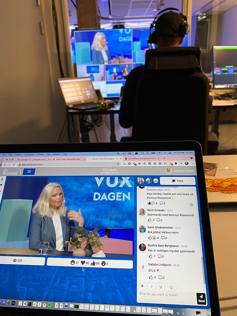 platform and live broadcast of VUX dagen with the City of Stockholm