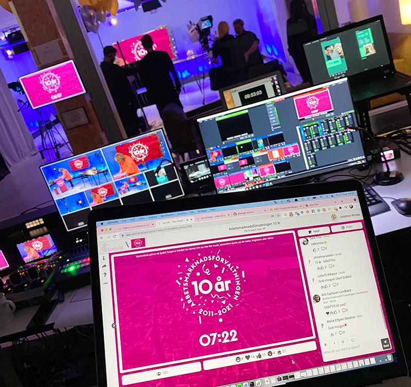 live studioevent och digitalt firande i stockholm
